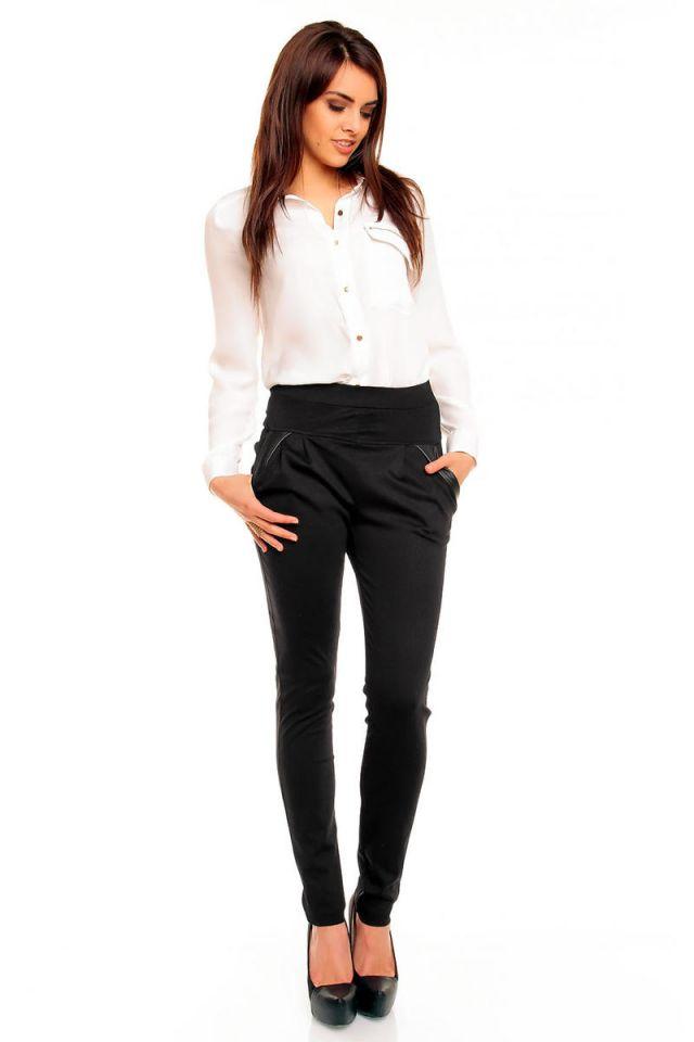 Wonderful  With Shortened Slimfit Black Pants And Heeled Shiny Black Loafers