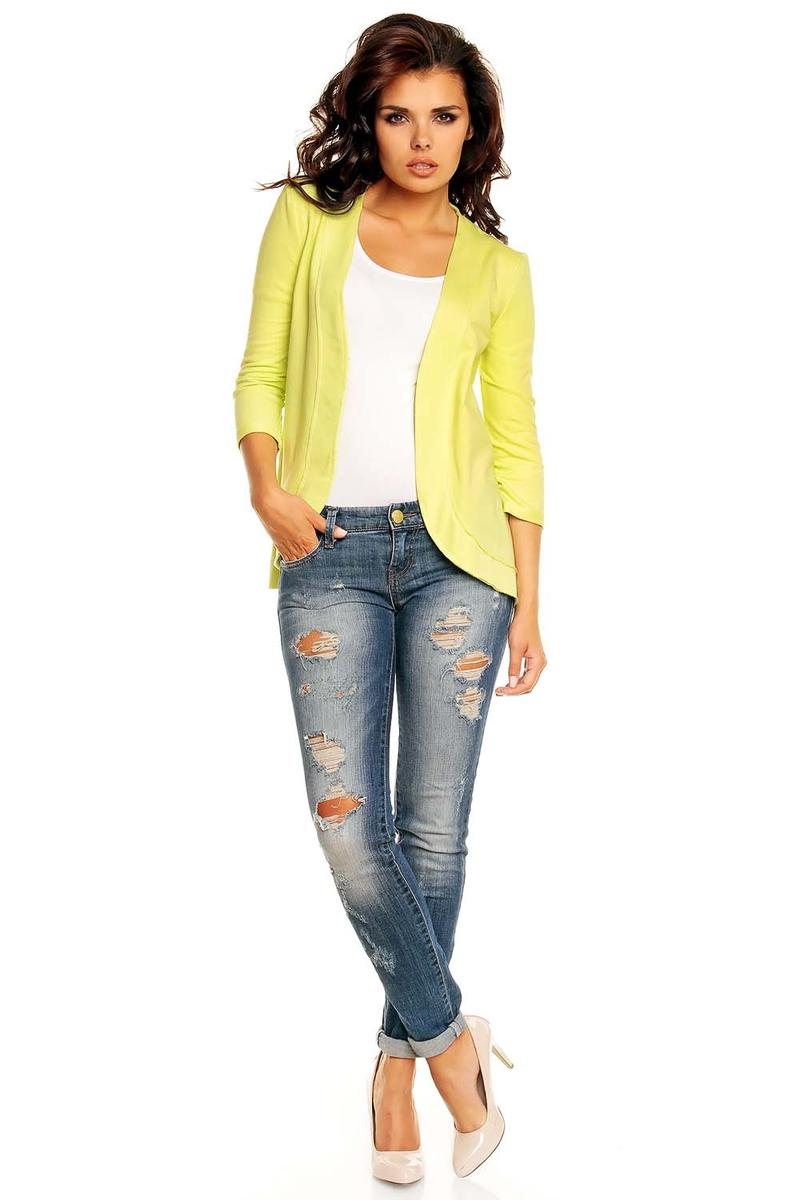 yellow curvy front women blazer