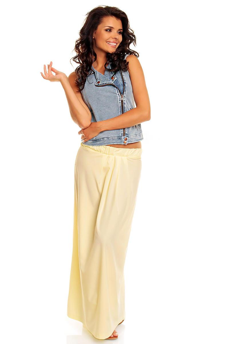 Yellow Comfy Feel Beach Maxi Skirt