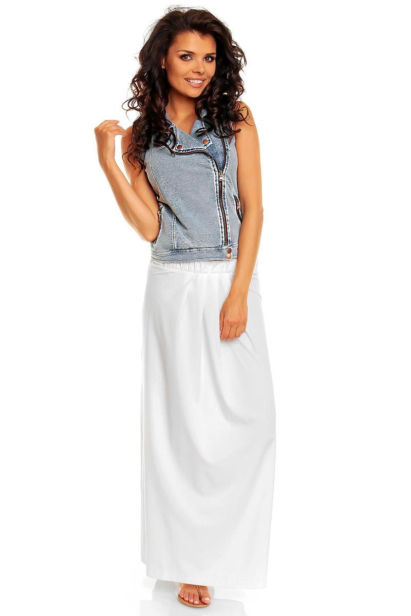 White Comfy Feel Beach Maxi Skirt