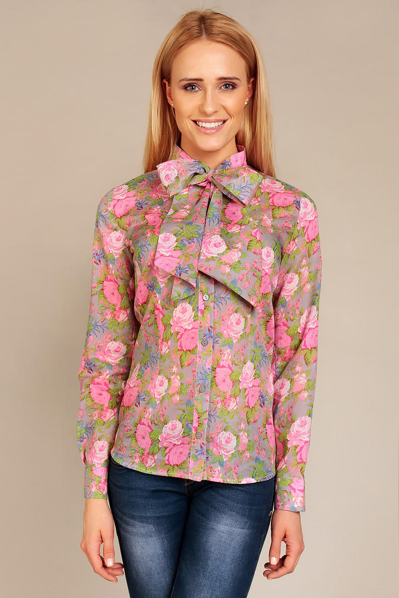 Floral Timid Rose Girly Long Sleeves Shirt