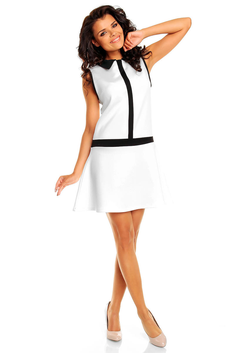 White School Teen Flare Skirt Dress