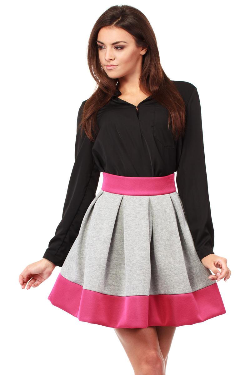 Pink All Round Boxy Pleat Mini Skirt