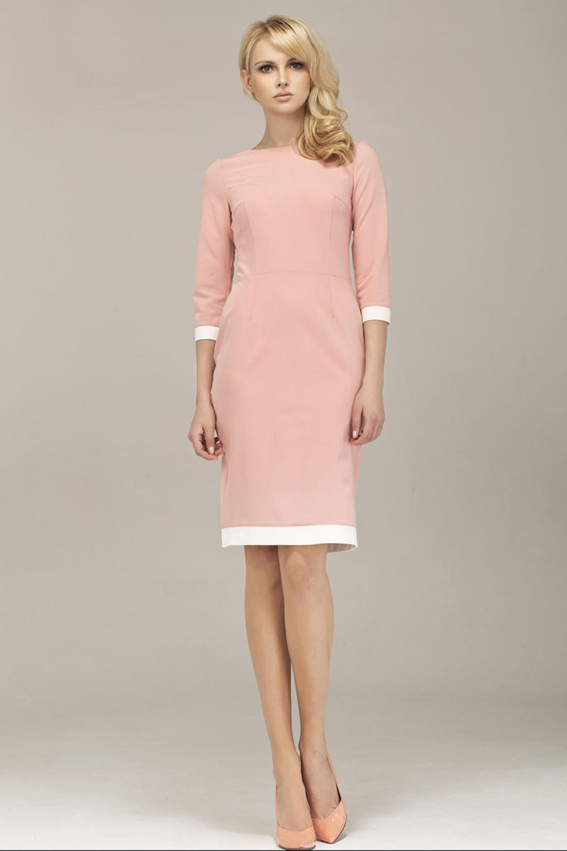 Powder Pink Corporate Look Chic Dress