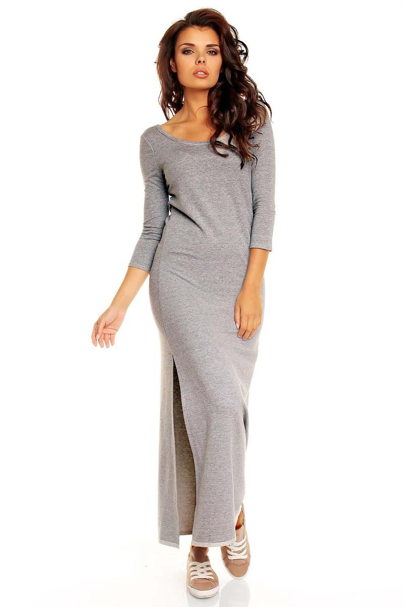 cotton comfy grey dress