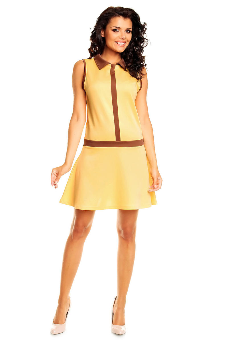 Yellow School Teen Flare Skirt Dress