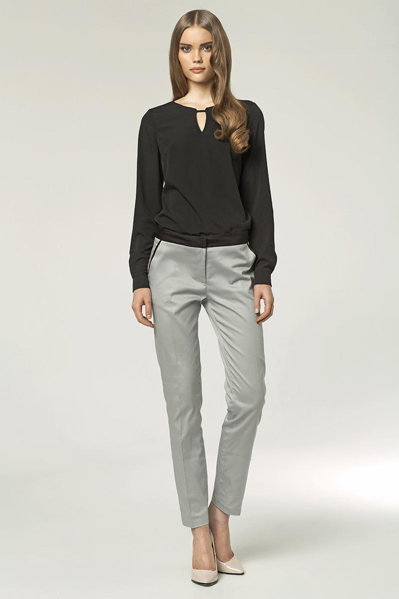Grey Trendy & Modern Long Elegant Pants