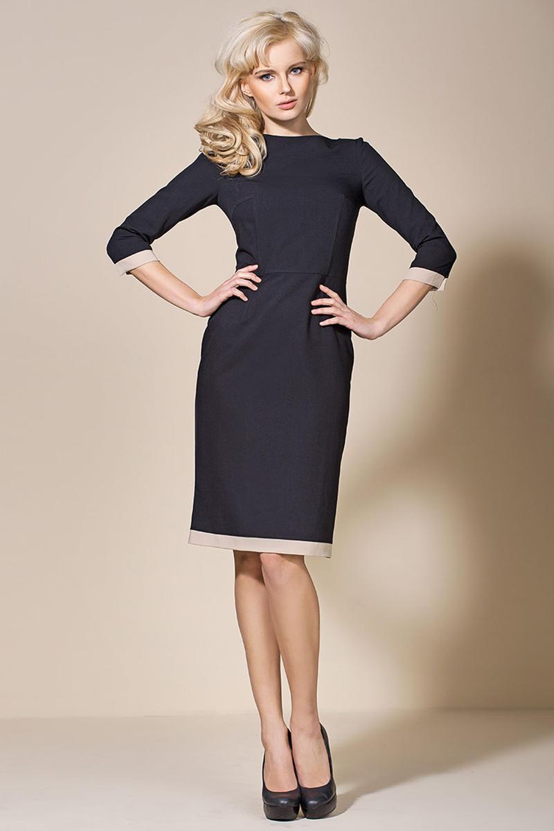 Black/Beige Corporate Look Chic Dress
