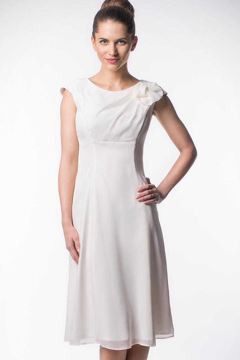 Ecru Pretty Elegance Prom Midi Dress