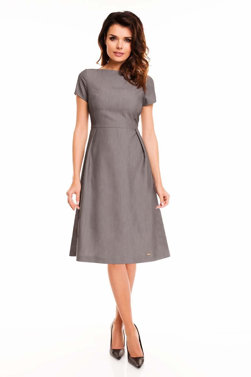 Grey school dress with back zipper