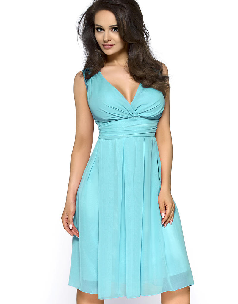 Turquoise Sweety Pinned-up Scarlet Dress