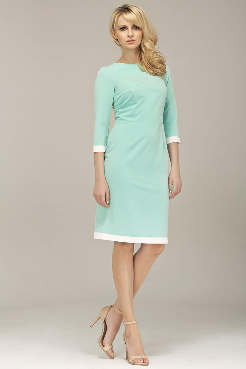 Mint Green Corporate Look Chic Dress