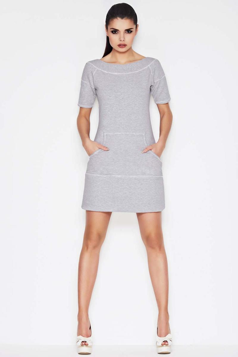 Grey Visionary Chic Sporty Casual Dress