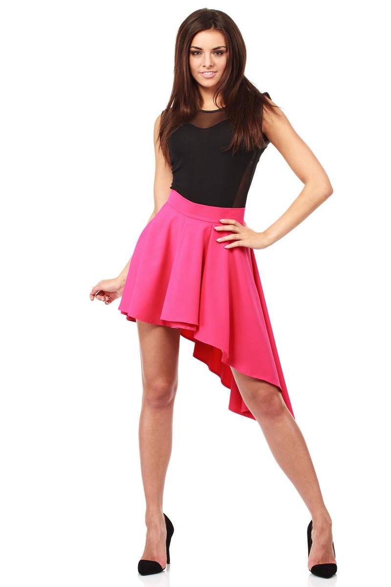 Pink Flamenco Salsa Dancing Pleated Skirt