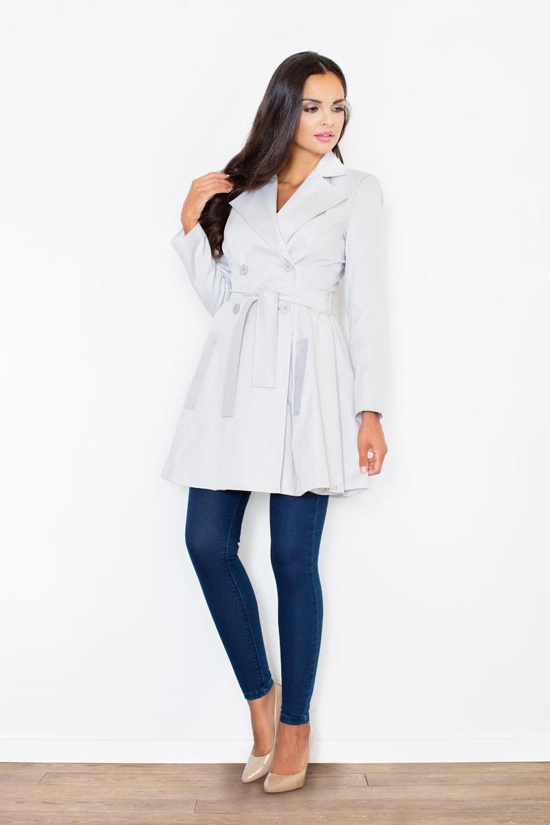 Grey Double Breast Coat Dress