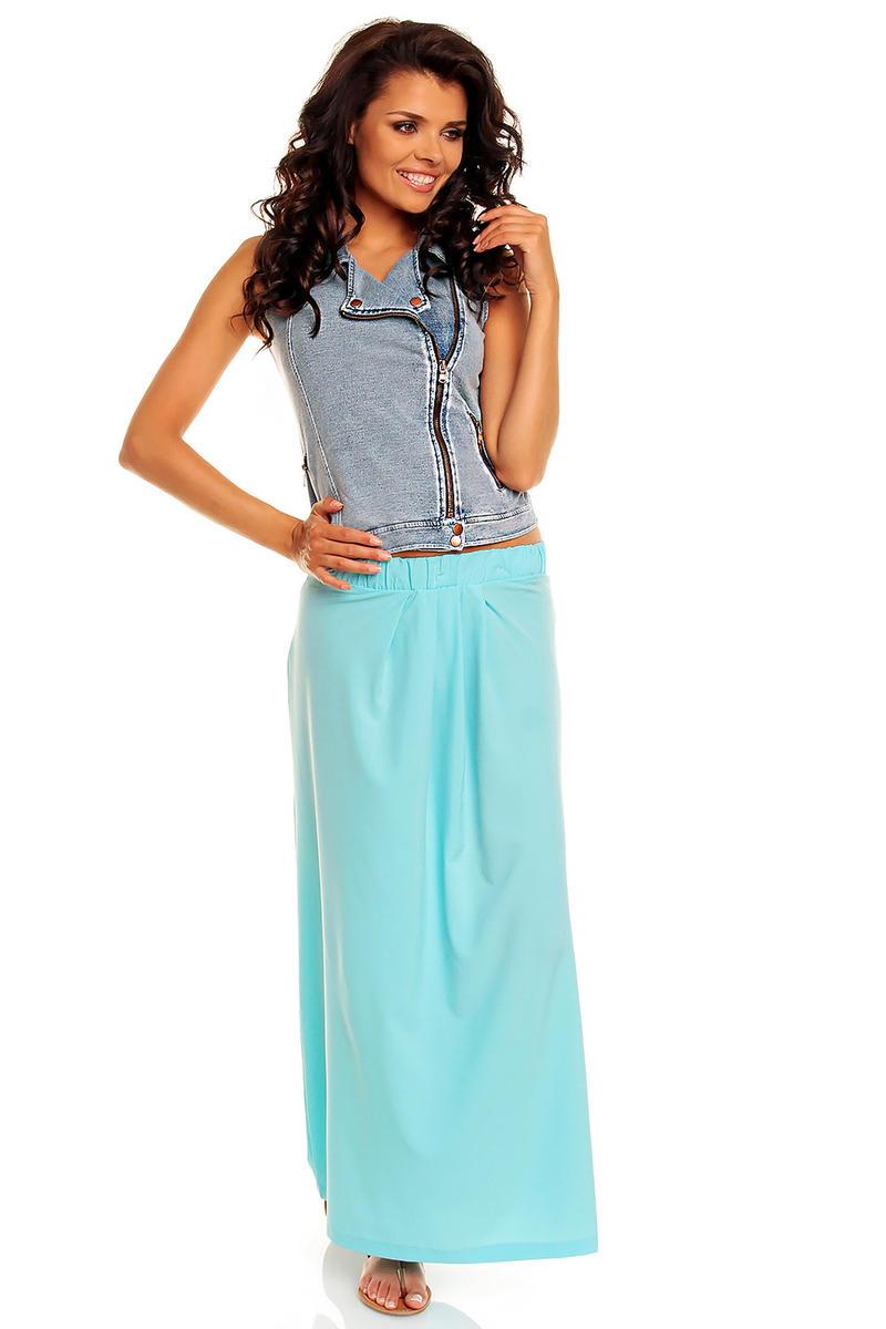 Turquoise Blue Comfy Feel Beach Maxi Skirt