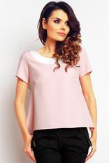 Pale pink seam blouse with low back
