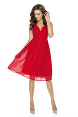 Red Sweety Pinned-up Scarlet Dress