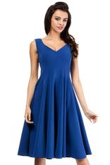 Blue Sleeveless Swirly Seam Dress