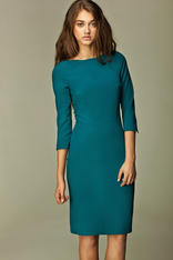 Blue Most Elegant Bardot Pencil Dress