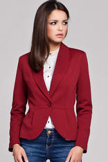Maroon Long Lapel Single Button Closure Blazer for Women
