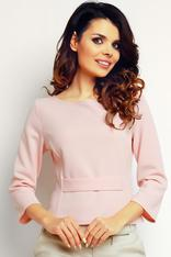 Powder Pink elegant textured blouse