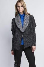 Dark Grey Oversize Blazer without Closure