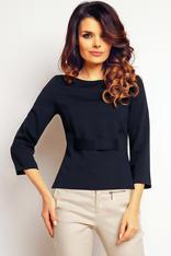 Dark Blue elegant textured blouse