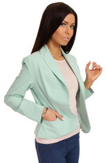 Long Lapels Green Coat with Single Button Fastening