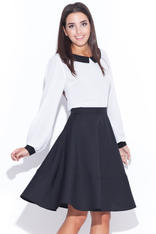 Black Swirly Panel Skirt with Side Zip Fastening