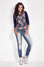 Navy Blue Extra Ordinaire Floral Jacket