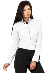 White Button Down Collar Executive Shirt
