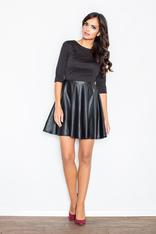 Black Miss Delighted Kelly Skater Dress
