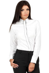 White Dapple Collar Office Shirt
