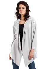 Grey waterfall neckline blazer