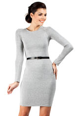 Ashen Seam Shift Dress with Raglan Sleeves