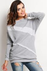 Grey Sweater with Bandage Details