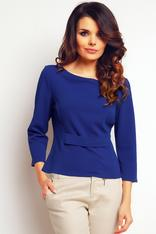 Blue elegant textured blouse