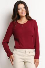 Maroon Shirt with Keyhole Back Neckline