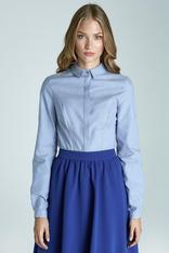 Light-blue Modern Style with Pintuct Front Office Shirt