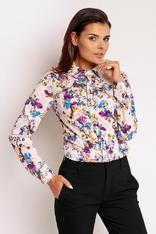 Cream High Chic Executive Office Shirt in Semi-modern Style