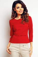 Red elegant textured blouse