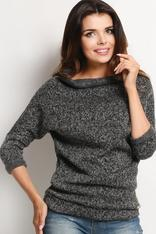 Scoop Cowl Neck Dark Grey Sweater