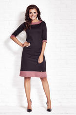 Black Shift Dress with Contrast Edges