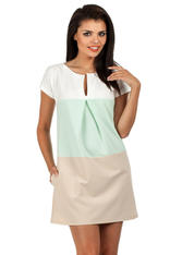 Green Mint Modesty Casual Mini Dress