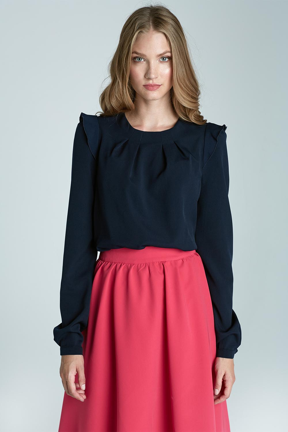 Long Sleeve Blouse With Ruffles 8
