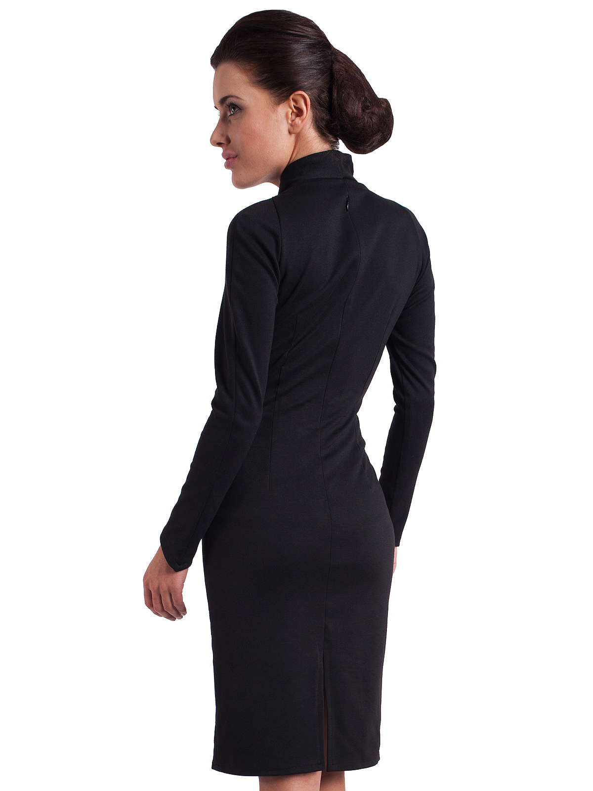 home dresses black fitted modern swan office dress