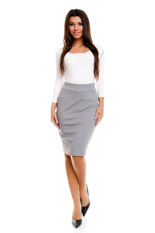 Grey Pencil Skirt - Skirts