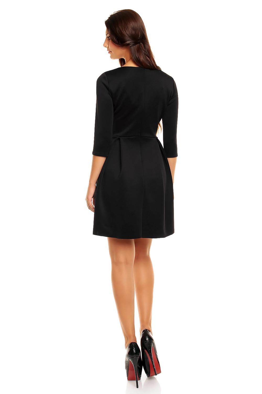 Black modern cut skater knee length dress