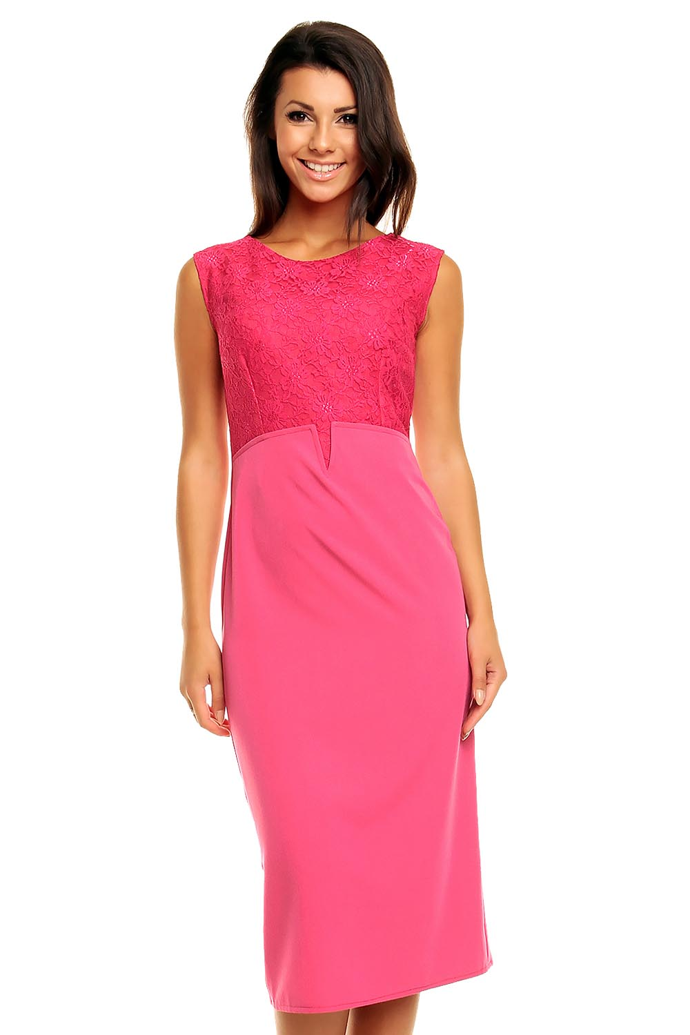 pink lovely high waisted pencil cut dress